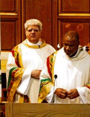Deacon Royce Winters standing in church