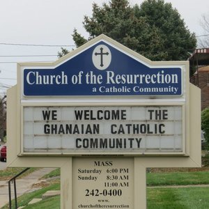 Church of the Resurrection sign