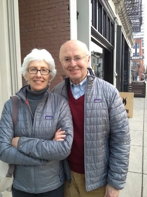 Joseph and Susan Pichler standing on street
