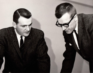 George Pflaum Jr. and catechetical editor Gerard Pottebaum